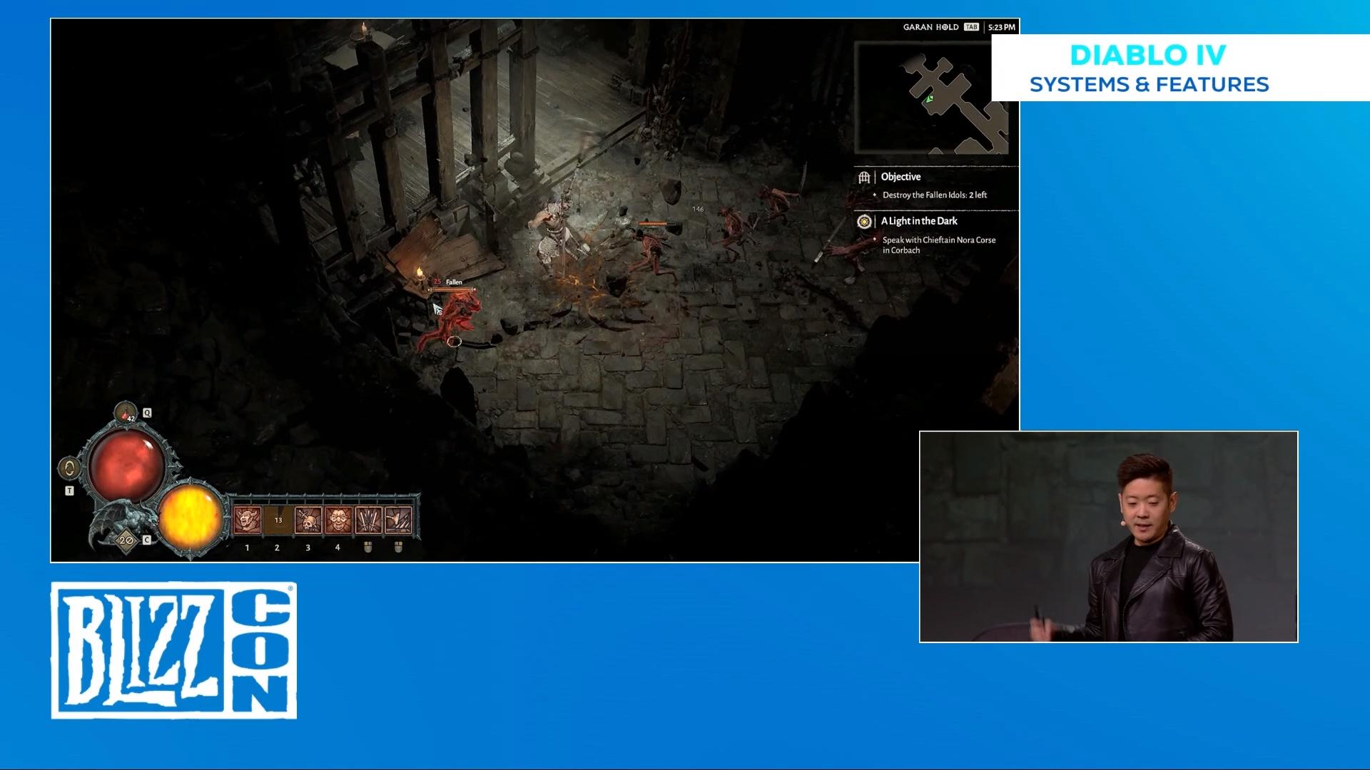 Image de la conférence 'Diablo IV : systèmes et fonctionnalités' de la BlizzCon 2019